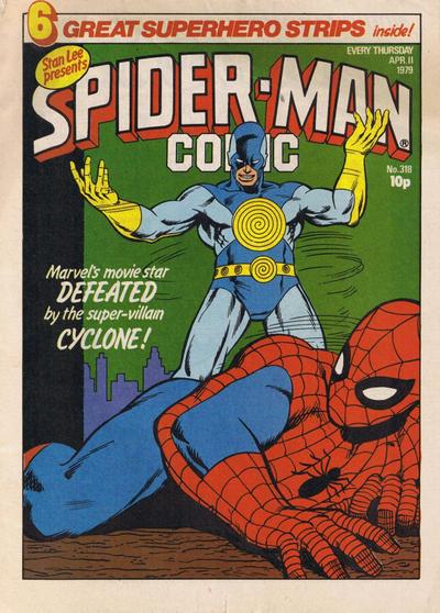 Cover for Spider-Man Comic (Marvel UK, 1979 series) #318