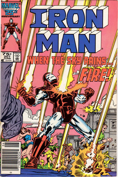 Cover for Iron Man (Marvel, 1968 series) #207 [Direct Edition]