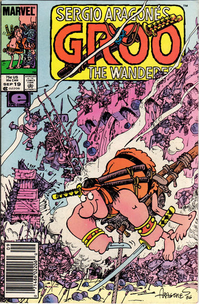 Cover for Sergio Aragonés Groo the Wanderer (Marvel, 1985 series) #19 [Newsstand Edition]