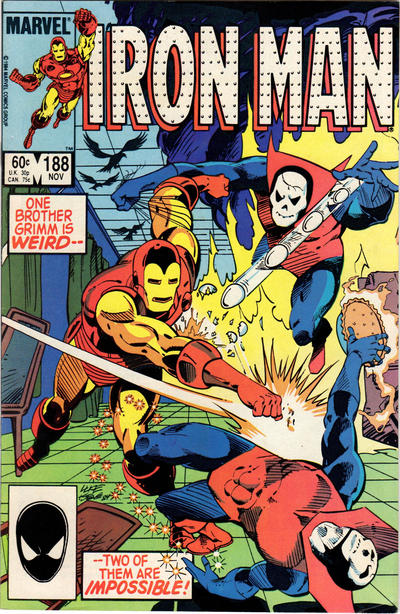 Cover for Iron Man (Marvel, 1968 series) #188 [Direct Sales Edition]