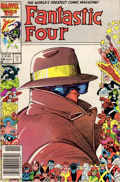 Cover for Fantastic Four (Marvel, 1961 series) #296 [Direct Edition]