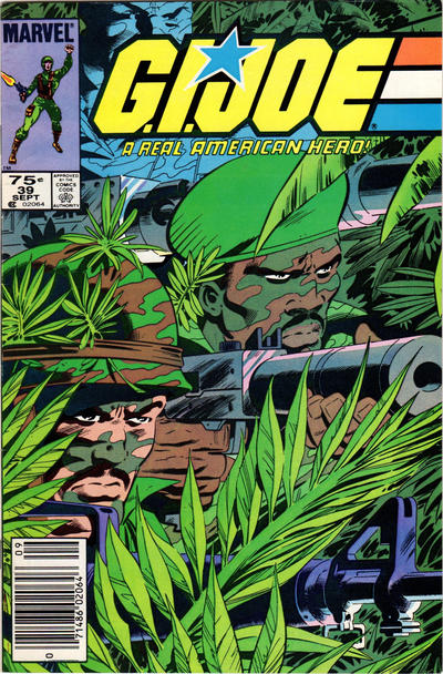 Cover for G.I. Joe, A Real American Hero (Marvel, 1982 series) #39 [Direct Edition]