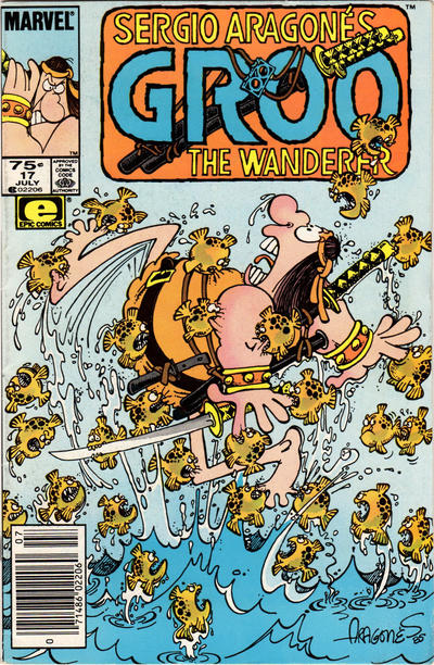 Cover for Sergio Aragonés Groo the Wanderer (Marvel, 1985 series) #17 [Direct Edition]
