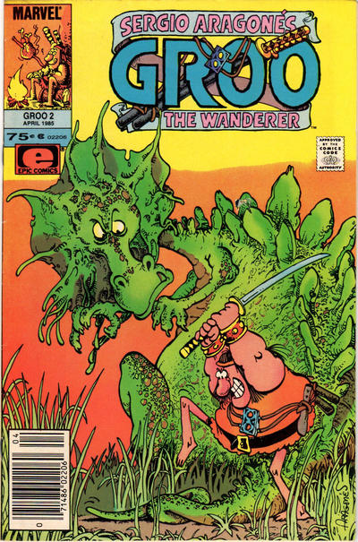 Cover for Sergio Aragonés Groo the Wanderer (Marvel, 1985 series) #2 [Newsstand Edition]