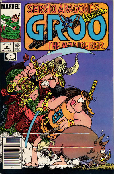 Cover for Sergio Aragonés Groo the Wanderer (Marvel, 1985 series) #9 [Direct Edition]