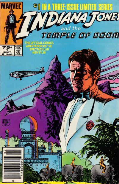 Cover for Indiana Jones and the Temple of Doom (Marvel, 1984 series) #1 [Direct Market Edition]