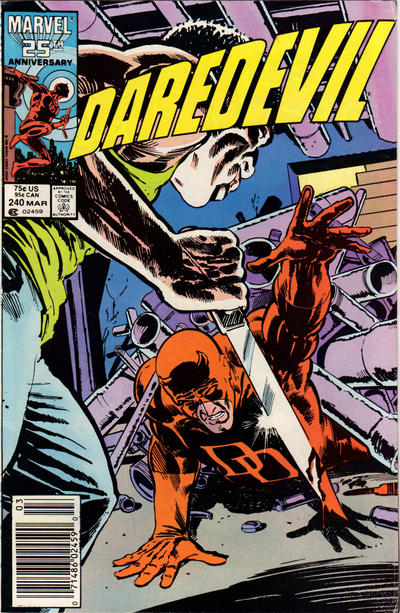 Cover for Daredevil (Marvel, 1964 series) #240 [Newsstand Edition]