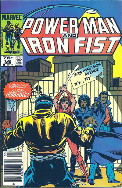 Cover for Power Man and Iron Fist (Marvel, 1981 series) #122 [newsstand]