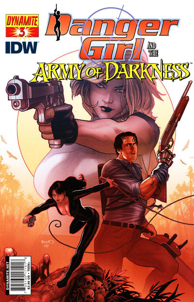 Cover for Danger Girl and the Army of Darkness (Dynamite Entertainment, 2011 series) #3 [Paul Renaud Cover]