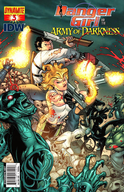 Cover for Danger Girl and the Army of Darkness (Dynamite Entertainment, 2011 series) #3 [Nick Bradshaw Cover]