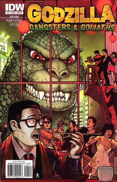 Cover for Godzilla: Gangsters and Goliaths (IDW, 2011 series) #4 [Retailer Incentive Cover (1 in 10)]