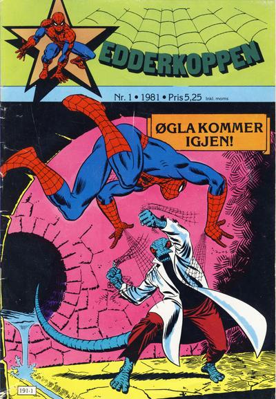 Cover for Edderkoppen (Atlantic Forlag, 1978 series) #1/1981
