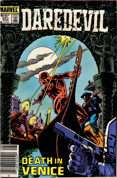 Cover for Daredevil (Marvel, 1964 series) #221 [Newsstand Edition]