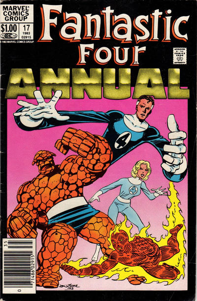 Cover for Fantastic Four Annual (Marvel, 1963 series) #17 [Newsstand Edition]