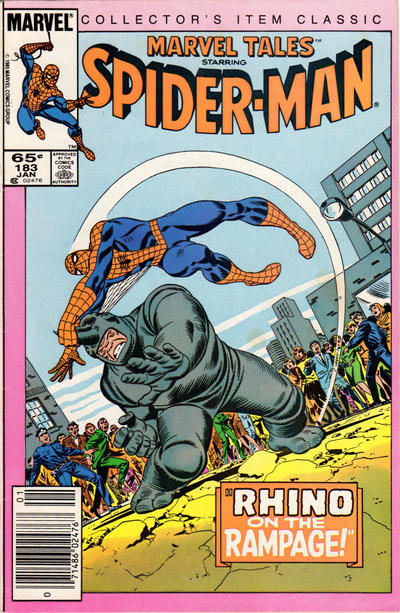 Cover for Marvel Tales (Marvel, 1966 series) #183 [Newsstand Edition]