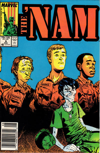 Cover for The 'Nam (Marvel, 1986 series) #9 [Newsstand Edition]