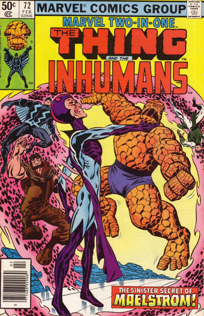 Cover for Marvel Two-in-One (Marvel, 1974 series) #72 [Newsstand]