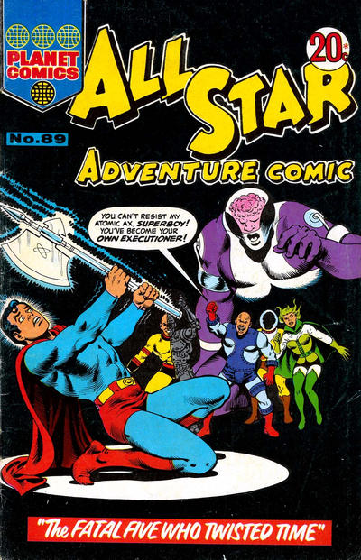 Cover for All Star Adventure Comic (K. G. Murray, 1959 series) #89