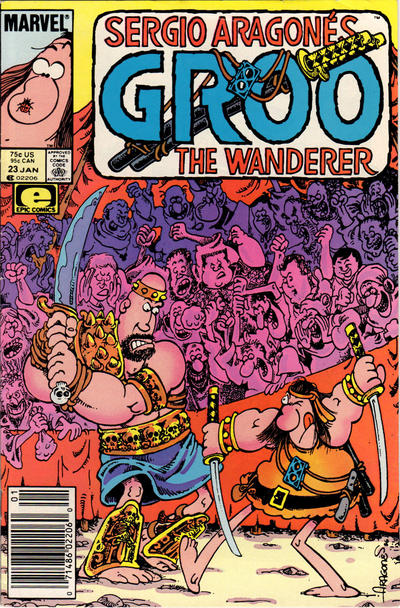 Cover for Sergio Aragonés Groo the Wanderer (Marvel, 1985 series) #23 [Newsstand Edition]