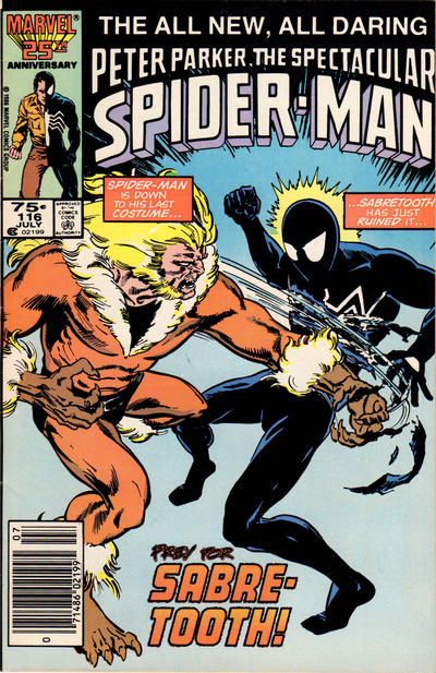 Cover for The Spectacular Spider-Man (Marvel, 1976 series) #116 [Newsstand Edition]