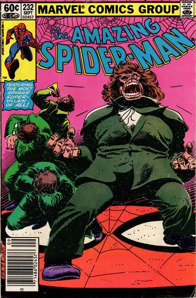 Cover for The Amazing Spider-Man (Marvel, 1963 series) #232 [Direct Edition]