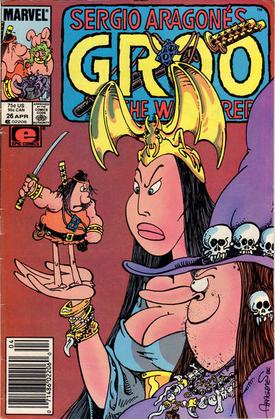 Cover for Sergio Aragonés Groo the Wanderer (Marvel, 1985 series) #26 [Newsstand Edition]