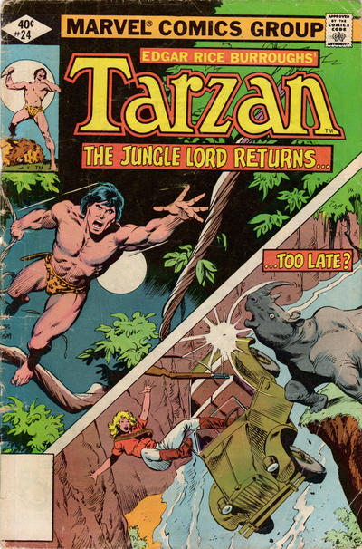 Cover for Tarzan (Marvel, 1977 series) #24