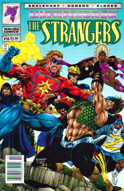 Cover for The Strangers (Malibu, 1993 series) #14 [Newsstand Edition]