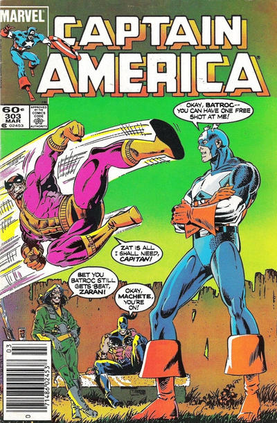 Cover for Captain America (Marvel, 1968 series) #303 [Direct Edition]