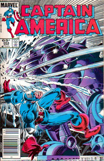 Cover for Captain America (Marvel, 1968 series) #304 [Direct Edition]