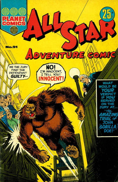 Cover for All Star Adventure Comic (K. G. Murray, 1959 series) #91