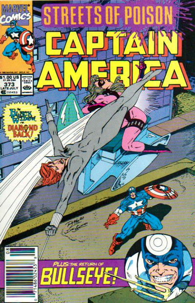Cover for Captain America (Marvel, 1968 series) #373 [Direct Edition]