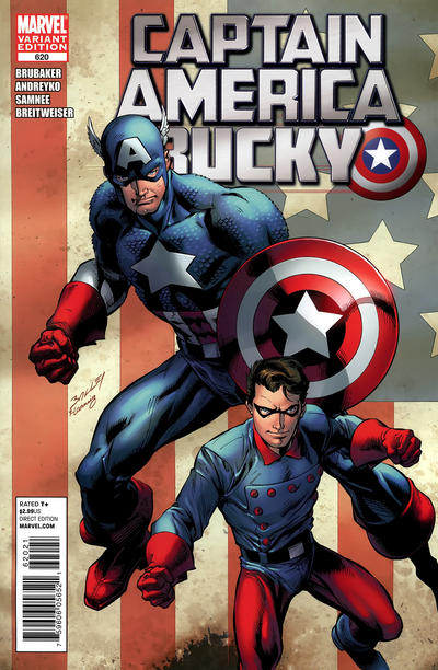 Cover for Captain America and Bucky (Marvel, 2011 series) #620 [Variant Cover]
