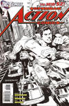 Cover for Action Comics (DC, 2011 series) #1 [Rags Morales Black & White Cover]