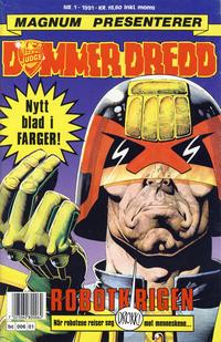 Cover Thumbnail for Dommer Dredd (Bladkompaniet / Schibsted, 1991 series) #1/1991