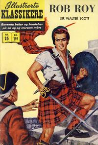 Cover Thumbnail for Illustrerte Klassikere [Classics Illustrated] (Illustrerte Klassikere / Williams Forlag, 1957 series) #25 - Rob Roy [1. opplag]