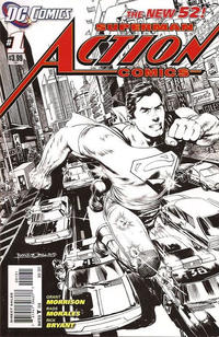 Cover Thumbnail for Action Comics (DC, 2011 series) #1 [1:200 Incentive Cover Edition]