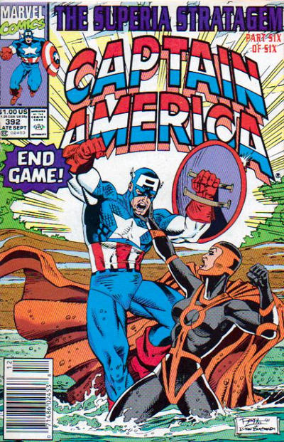 Cover for Captain America (Marvel, 1968 series) #392 [Newsstand Edition]