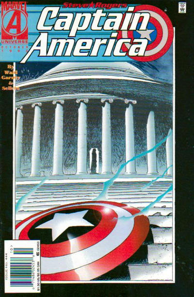Cover for Captain America (Marvel, 1968 series) #444 [Direct Edition]
