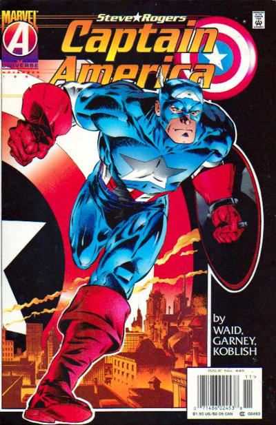 Cover for Captain America (Marvel, 1968 series) #445 [Direct Edition]