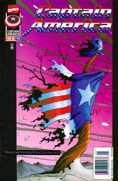 Cover for Captain America (Marvel, 1968 series) #451 [Newsstand Edition]