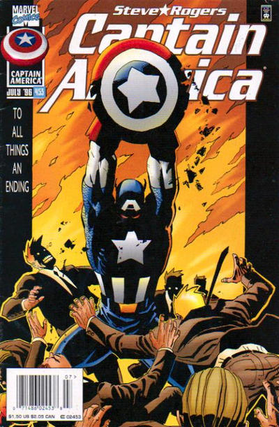 Cover for Captain America (Marvel, 1968 series) #453 [Newsstand Edition]