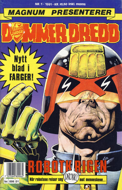 Cover for Dommer Dredd (Bladkompaniet / Schibsted, 1991 series) #1/1991