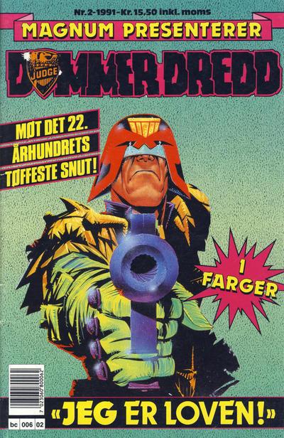 Cover for Dommer Dredd (Bladkompaniet / Schibsted, 1991 series) #2/1991