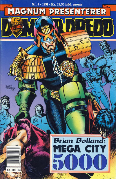 Cover for Dommer Dredd (Bladkompaniet, 1991 series) #4/1991