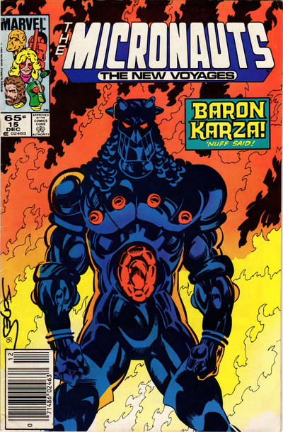 Cover for Micronauts (Marvel, 1984 series) #15 [Direct]