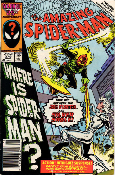 Cover for The Amazing Spider-Man (Marvel, 1963 series) #279 [Newsstand Edition]