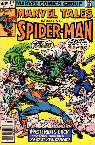 Cover for Marvel Tales (Marvel, 1966 series) #118 [Newsstand Edition]