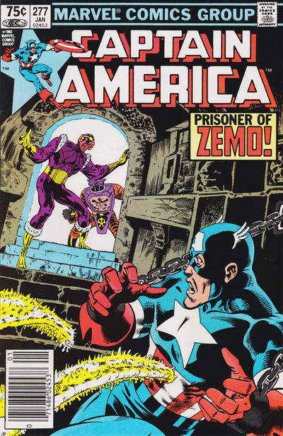 Cover for Captain America (Marvel, 1968 series) #277 [Canadian Newsstand Edition]