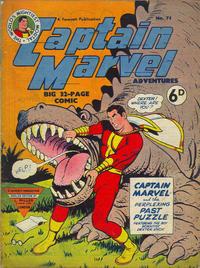 Cover Thumbnail for Captain Marvel Adventures (L. Miller & Son, 1950 series) #75